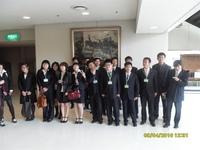 入学仪式后同学们的合影
