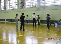 福手老师和篮球队